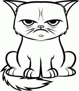 2dc75d65667c4d14d40e72b2a3f1f5a9--grumpy-cat-cakes-cake-drawing