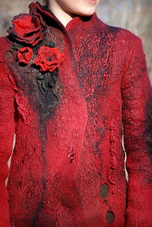 Купить История маленьких эльфов 2 - валяное пальто, детская одежда, Мокрое валяние, нуновойлок