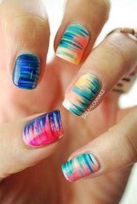 Sarah Lou Nails: Gradient Side Stripe Nails!