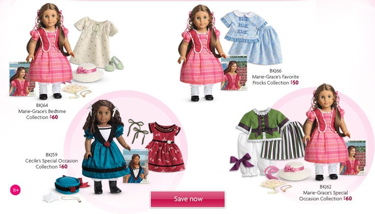 American Girl Doll Sale: Marie-Grace or Cecile Doll & Clothing Sets $60