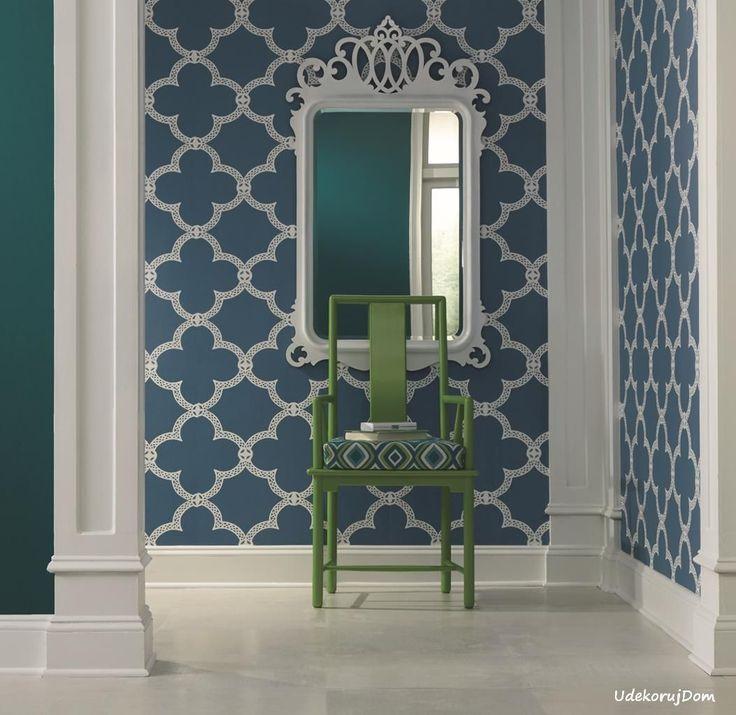 Wzór marokańskiej koniczyny ( moroccan ) doskonale pasuje do wystroju w stylu Hamptons.