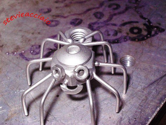 ragno acciaio regalo natale Art metal scultura di stevieacciaio