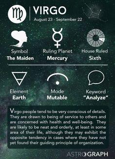 Virgo Cheat Sheet Astrology - Virgo Zodiac Sign - Learning Astrology - AstroGraph Astrology Software