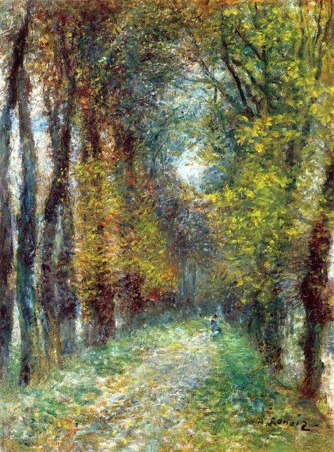 Pierre-Auguste Renoir, The Covered Lane on ArtStack #pierre-auguste-renoir #art