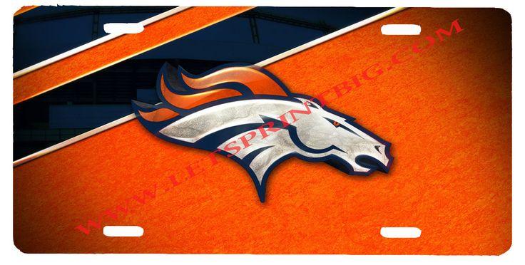 Denver Broncos License Plate Car Tag