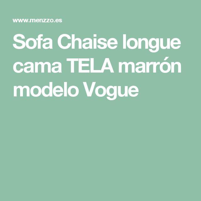 Sofa Chaise longue cama TELA marrón modelo Vogue