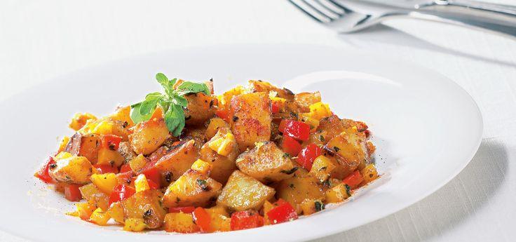 Gulash de patatas con pimientos