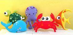 Feltrolândia • O mundo mágico do Feltro: Decoração Festa Infantil - Fundo do Mar