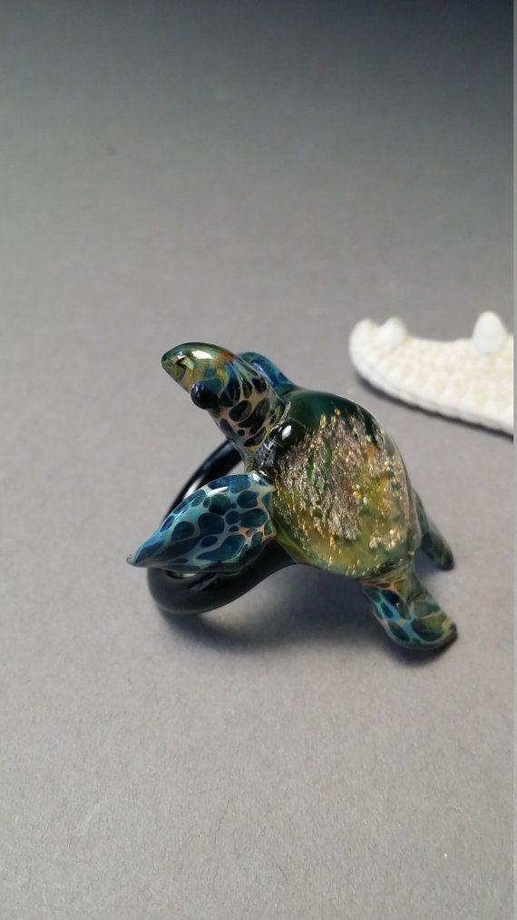 Amazon or pour anneau de tortue de mer les gars