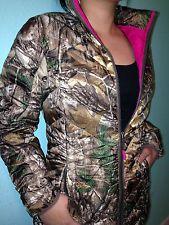 Realtree/Mossy Oak Ladies/women HOT Pink Hunting Camo Light Down Jacket