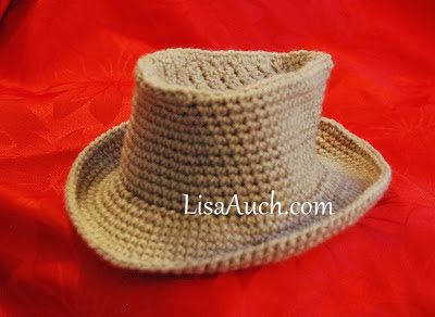 Free Crochet Patterns and Designs by LisaAuch: Free Crochet Pattern for a Cowboy Hat for a Baby