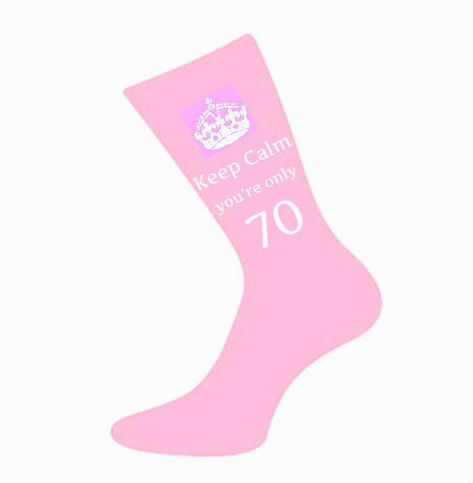 Women Keep Calm You're Only 70 Socks. A fun & Unique 70th Birthday Gift Idea for Mum, Mother, Sister, Wife, Nan, Friend *Various Colours* by SwanLaneCreations on Etsy https://www.etsy.com/listing/217286198/women-keep-calm-youre-only-70-socks-a