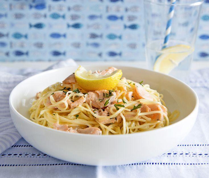 Tejszínes-lazacos tészta // Spaghetti w/ Creamy Salmon Sauce