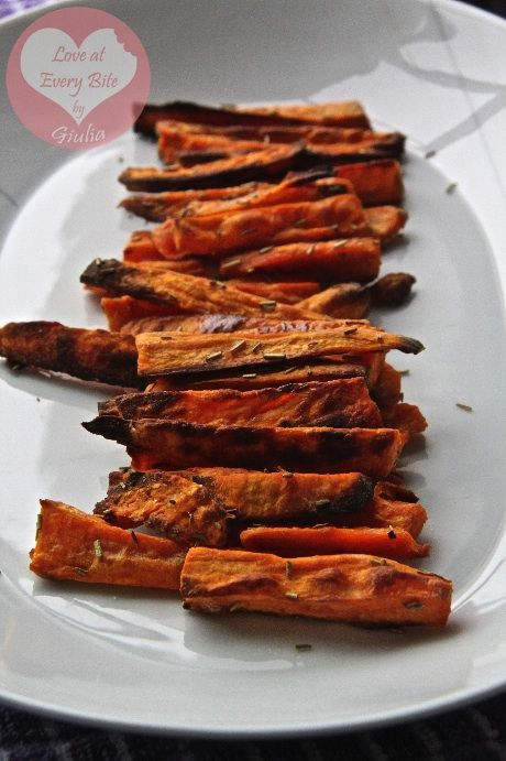 Chips di patata dolce - Sweet Potato Wedges - Loveateverybite
