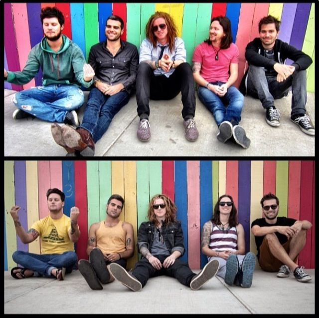 """We the Kings - their very own """"Transformation Tuesday"""" in New Mexico (which is now the cover of their new album, """"Somewhere Somehow"""")"""