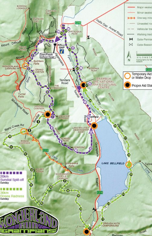 20 km and 36 km trails Last weekend August 2015 Halls Gap Grampians