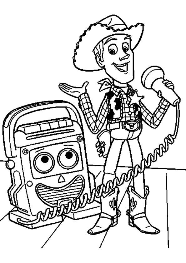 The Microphone Talk Toy Story Coloring Pages Disney Coloring Pages Coloring Pages