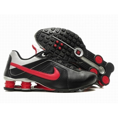 Nike Shox R4 Men Black/White/Red Shoes 1071 For $57.80 Go To: