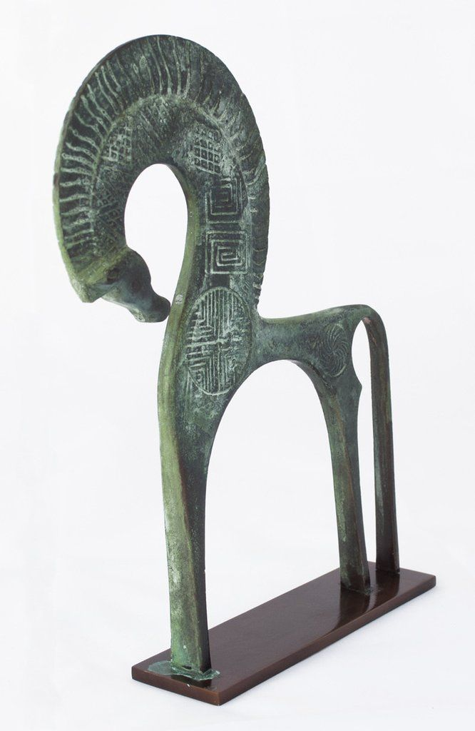Bronze Horse Greek Art - table art Made in Greece
