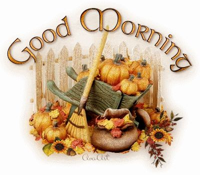 Good Morning coffee autumn fall pumpkin good morning good morning greeting good morning gif