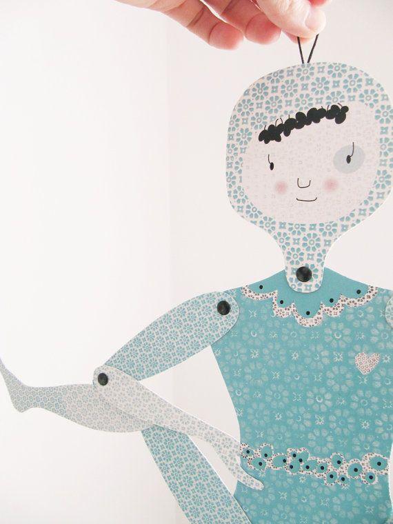 Celeste, articulated paper doll