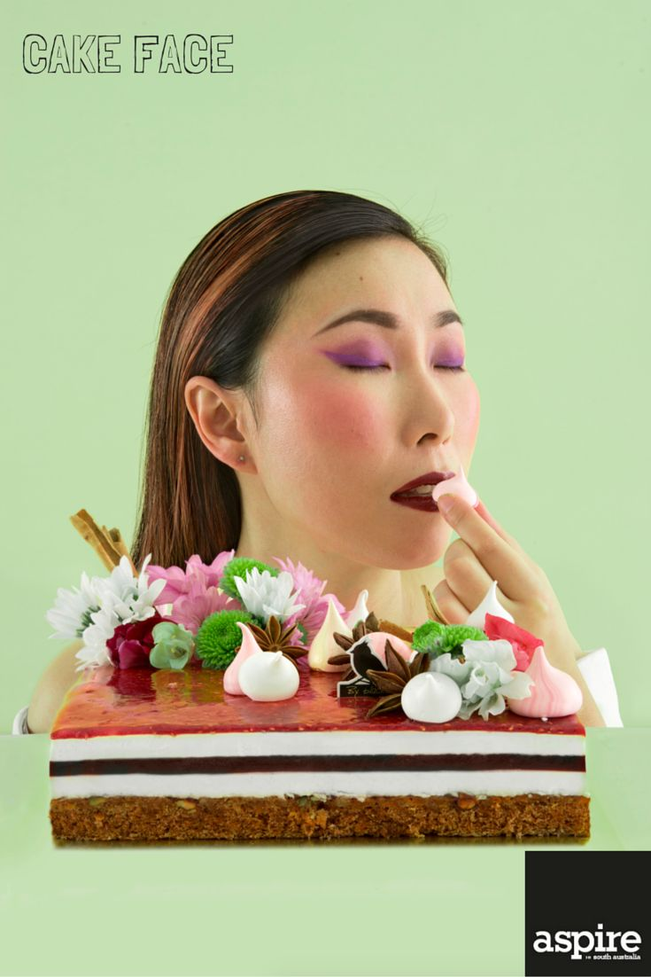 Is there anything more indulgent than stuffing your face with cake? We met four of Adelaide's best cake makers and featured them in our APRIL/MAY 2015 edition.  Aspire Magazine  Chakey Kim, head pastry chef/patissier, By Blackbird http://cknblackbird.wix.com/byblackbird  #Cake #Food #Styling #Photography #Adelaide #SouthAustralia