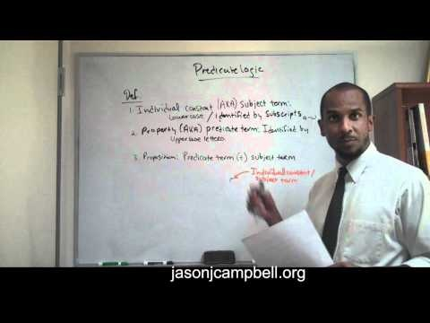 1. Logic Lecture: Introduction to Predicate Logic