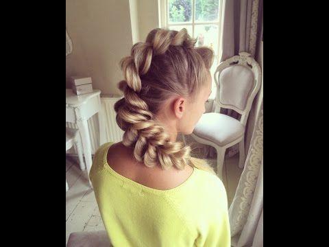Mohawk Pull-Through Braid by SweetHearts Hair Design - YouTube