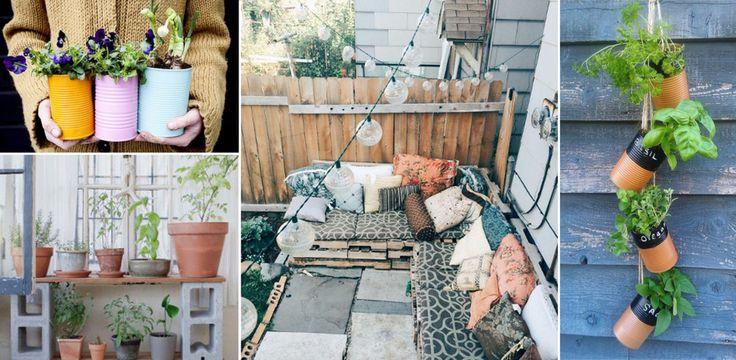Mit dieser Do-it-yourself Deko stylst du jeden noch so kleinen Balkon!