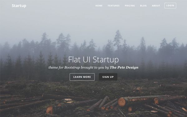 Flat UI Startup: Bootstrap Template