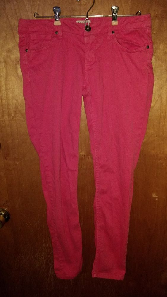 MUDD junior's size 11 red pink skinny  pants STRETCH guc cotton spandex   Clothing, Shoes & Accessories, Women's Clothing, Jeans   eBay!