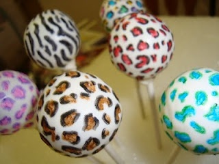 animal print cake pops cakepops animalprint