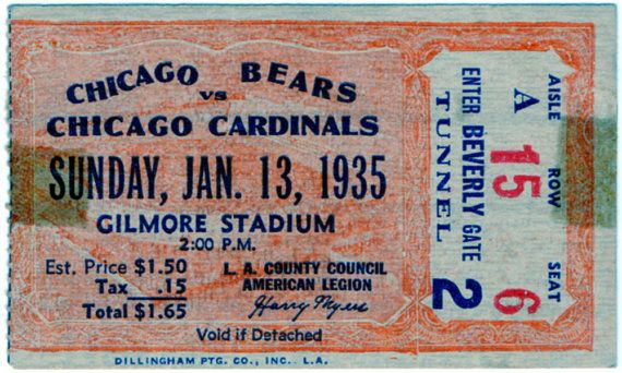 1935 Chicago Bears vs Chicago Cardinals NFL by LlwynLlwyfenni