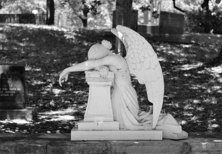 The Angel of Grief is an 1894 sculpture by William Wetmore Story which serves as the grave stone of the artist and his wife at the Protestant Cemetery in Rome.