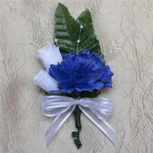 Royal Blue Carnation Boutonniere