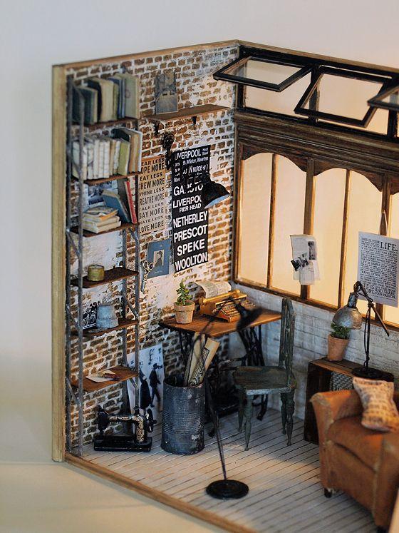 Miniatuur-making: natuurlijke kleur van het leven ~ handgemaakte meubels Handmade Furniture - http://amzn.to/2iwpdj4