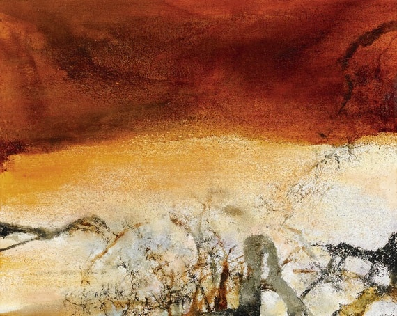 "Sotheby's London: ""Contemporary Art Evening Auction"" Lot 16Zao Wou-ki""10.01.91,"" 1991[content:shareblock]  Estimate: 600,000 - 800,000 British pounds Price realized: 1,609,250 British pounds Courtesy Sotheby's[content:advertisement-center]"