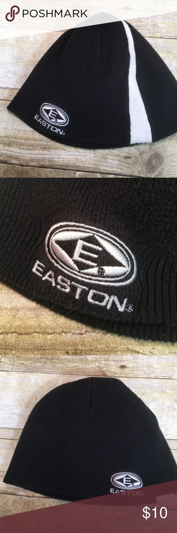 "Easton Black & White Beanie 60% cotton 40% acrylic. 7 1/2"" tall. 10"" circle. Stretchy. Excellent condition and comes from my non smoking home Easton Accessories Hats"