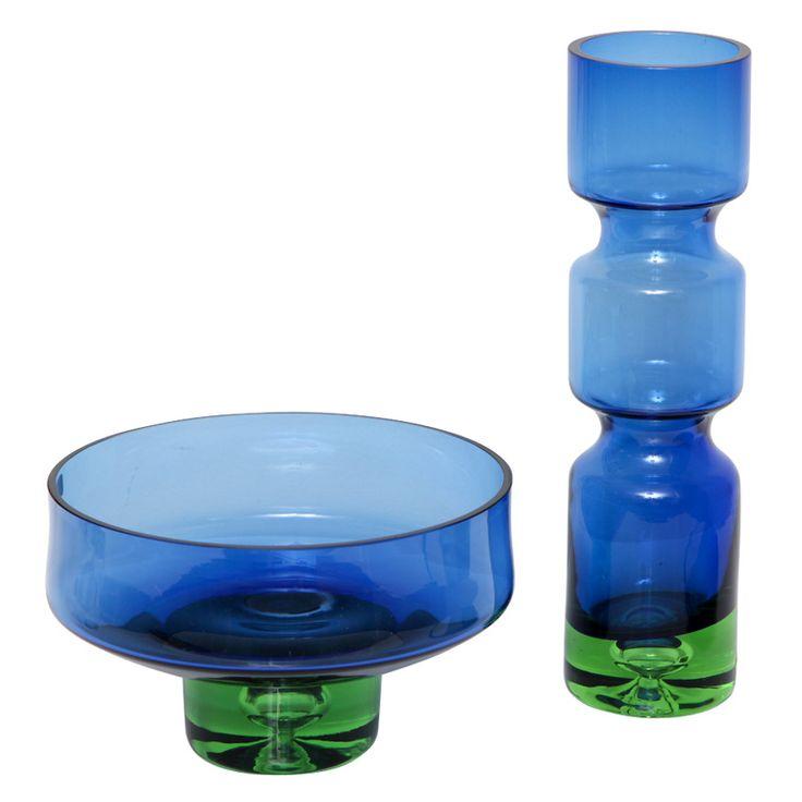 Vibrant Vase and Bowl by Bo Borgstrom for Aseda