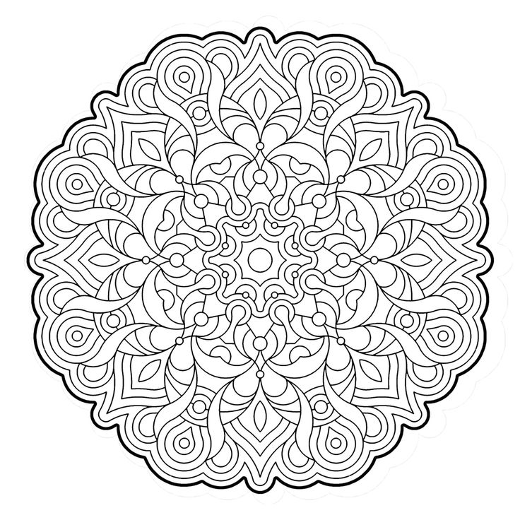 Elegance Mandala Colouring Pages