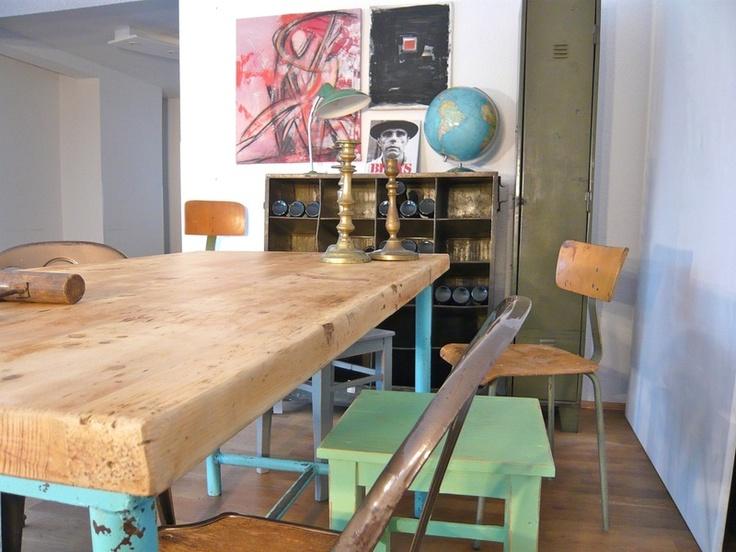 Schreibtisch 60er vintage for Design tisch smooty
