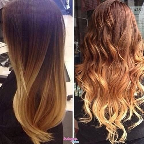ombre hair straight and wavy