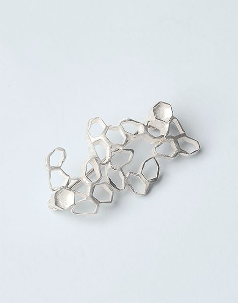 Patch Reef Brooch, sterling silver