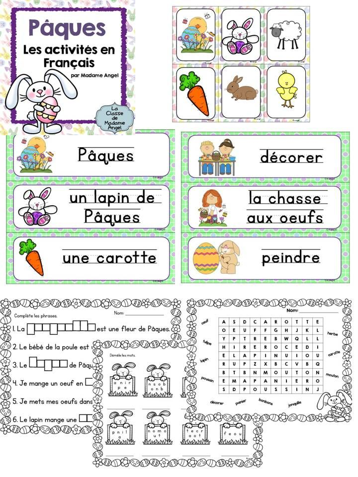 Pâques Paques Easter Themed Literacy Activities In French Fle