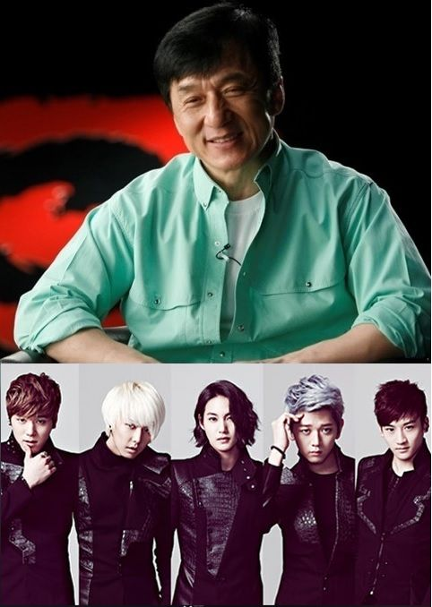 Jackie Chan reveals his new K-pop boy group, JJCC. I have very large expectations for this group. I hear, don't know if this is true or not, but supposedly they were training for EIGHT YEARS!!!! That's more than half of my age! But I have a feeling that this will be a good group.