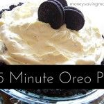 15-Minute Oreo Pie Recipe - (!!!) very light but rich.  Used cheesecake pudding instead d/t no vanilla on hand.  Tasted great!  Definitely will make again