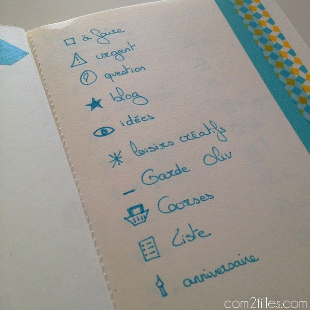 bullet journal - codes icons