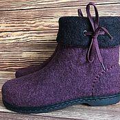 Купить или заказать Туфли валяные в интернет магазине на Ярмарке Мастеров. С доставкой по России и СНГ. Срок изготовления: 5-10 дней. Материалы: натуральная шерсть, подошва ТЭП,…. Размер: 35-40<br /> Размеры 41 и 42 плюс 2000…
