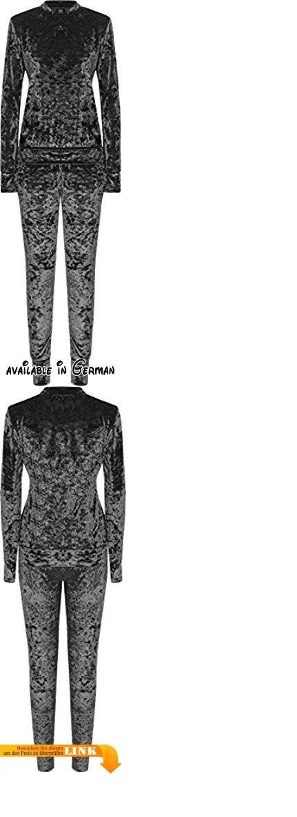 WEARALL Damen Plus Velour Lounge Einstellen Damen Lang Hülle Top Leggings Co-ord Anzug - Grau - 42. Authentic & Original Nur Von WearAll. Länge Top 69cm Front Rise: 34cm Inside Leg 76cm. Oben. Velour Entwurf. Dehnbund #Apparel #SHIRT