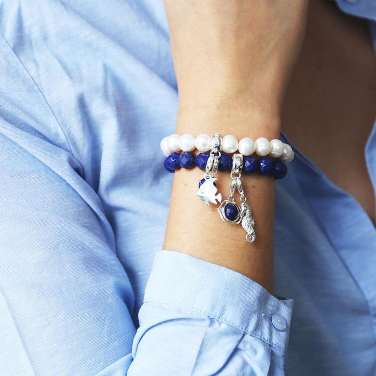thomassaboLonging for the sun? ☀ Get your summer mood now with our new Charms ♥ #linkinbio #CharmClub #newcollection #jewellery #summer #maritime #cute lapis charm bracelet thomas sabo